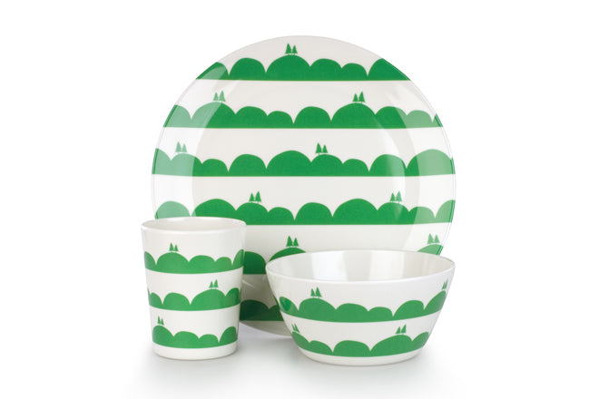 Anorak 'Rolling Hills' melamine tableware, published by Bobby Rabbit