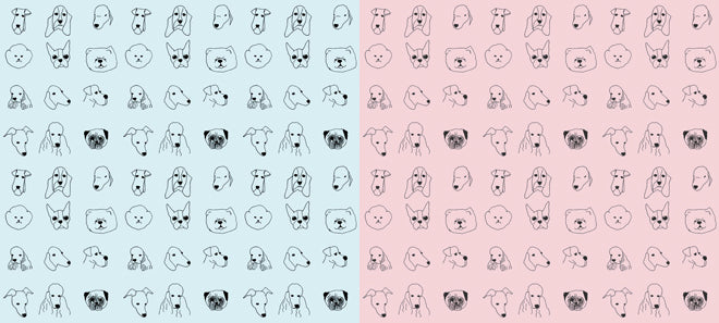 on the wall, wallpaper, children's wallpaper, animal wallpaper, dogs wallpaper, Baines and Fricker, published by Bobby Rabbit