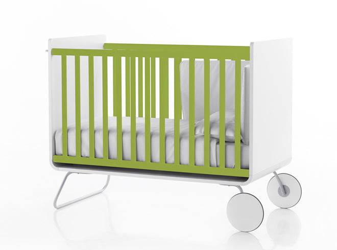 furniture, children's furniture, children's bedroom furniture, cots, green cot, BE cot, Bebemoda, published by Bobby Rabbit