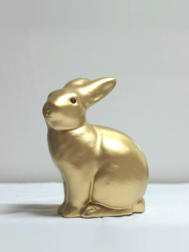 Gold rabbit lamp for children's rooms, designed by Heico and available from Bimbily, published by Bobby Rabbit