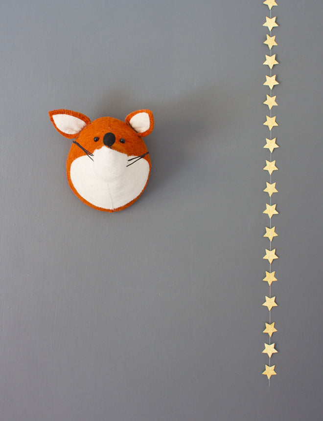 on the wall, wall decoration, children's wall decoration, animal wall decoration, fox wall decoration, maileg, Bodie and Fou, published by Bobby Rabbit