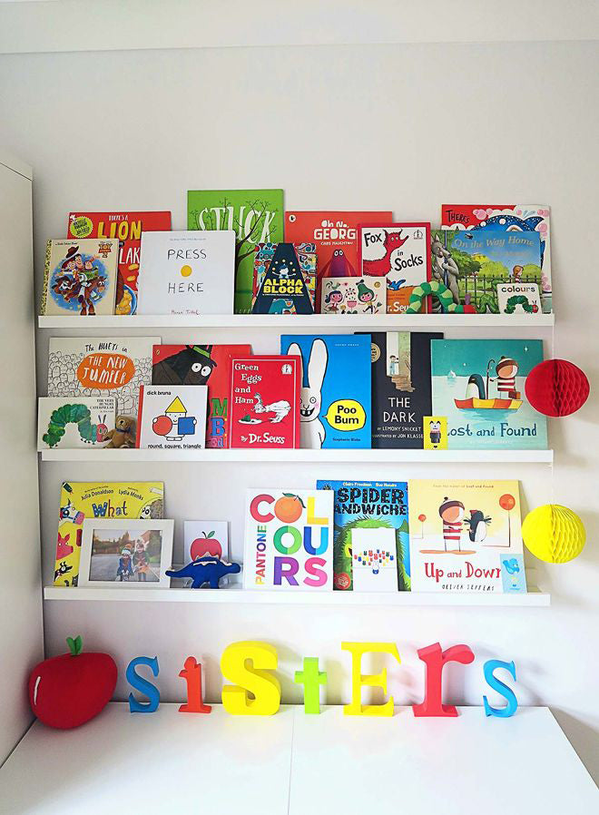 Bright Book Wall, as seen on Mummy Daddy Me, published by Bobby Rabbit