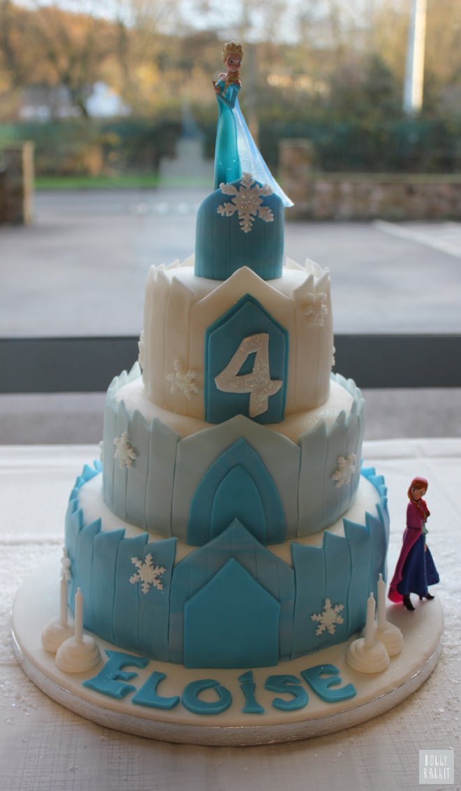 Frozen Ice Castle Birthday Cake, party styling by Bobby Rabbit