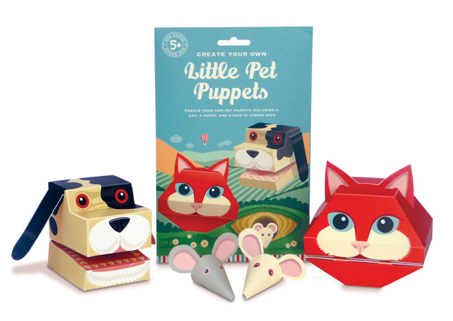 Create your own little pet puppets set by Clockwork Soldier, published by Bobby Rabbit