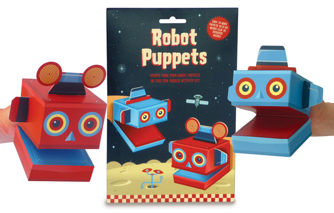 Create your own robot puppets set by Clockwork Soldier, published by Bobby Rabbit