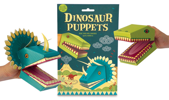 Create your own dinosaur puppets set by Clockwork Soldier, published by Bobby Rabbit