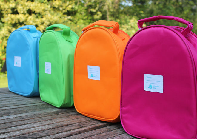 Children's animal lunch bags by Colourful Dove, published by Bobby Rabbit