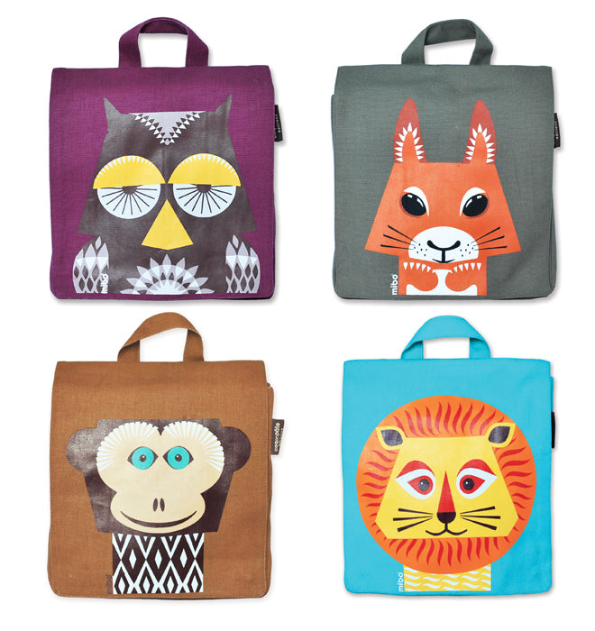 accessories, bags, children's bags, children's rucksacks, animal rucksacks, Coq en Pate rucksacks, Cool in Cloth, published by Bobby Rabbit