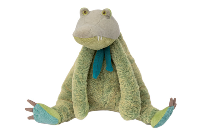 Moulin Roty Bazar Crocodile soft toy from Cottontails, published by Bobby Rabbit