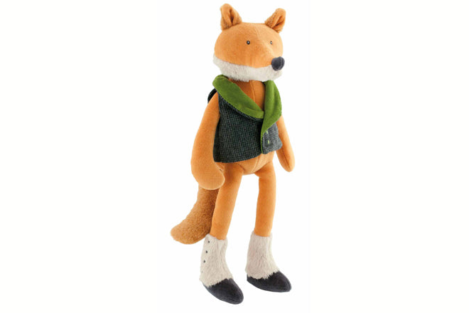toys, soft toys, soft toy gifts, baby gifts, soft toy fox, Moulin Roty Monsieur Renard fox, Cottontails Baby, published by Bobby Rabbit