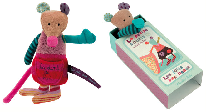 toys, soft toys, soft toy gifts, Moulin Roty milk tooth mouse, Cottontails Baby, published by Bobby Rabbit