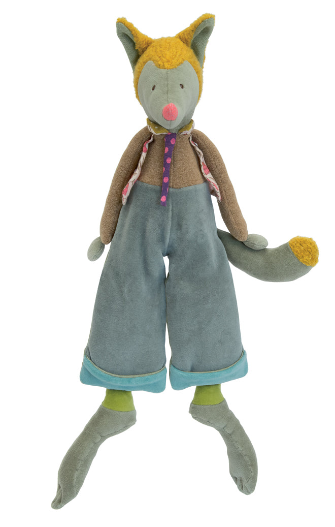 Moulin Roty Tartempois LouLou Wolf soft toy from Cottontails, published by Bobby Rabbit