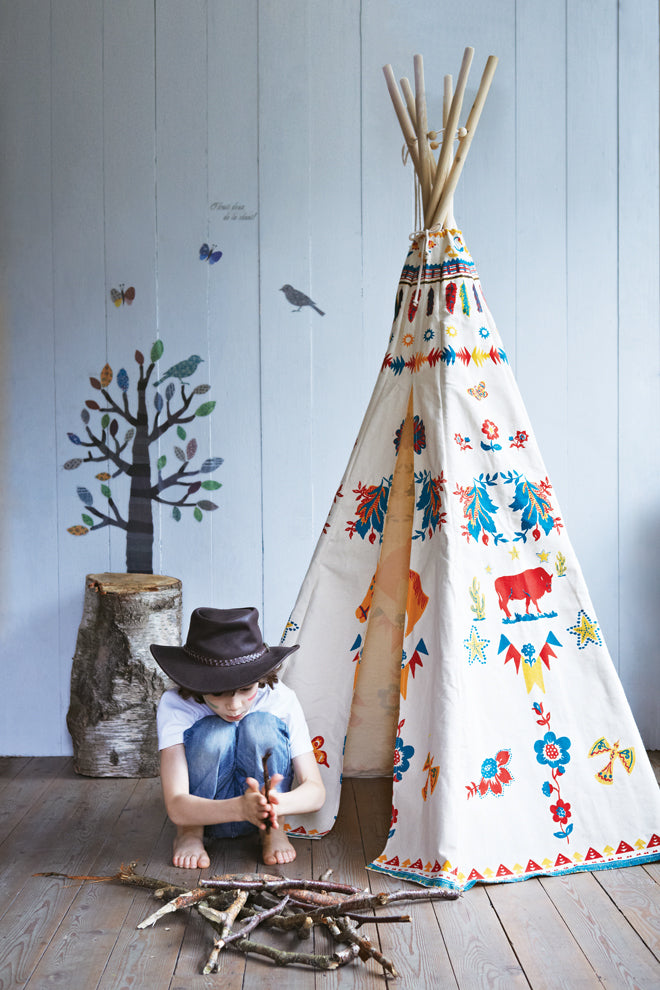 toys, activity toys, kids dens, kids wigwams, kids tents, kids teepees, Cox and Cox Indian teepee, published by Bobby Rabbit