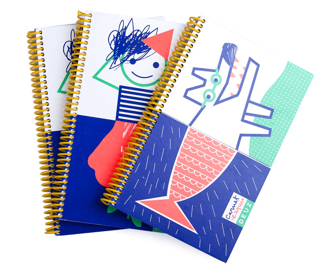Children's sketchbooks by Deuz, published by Bobby Rabbit