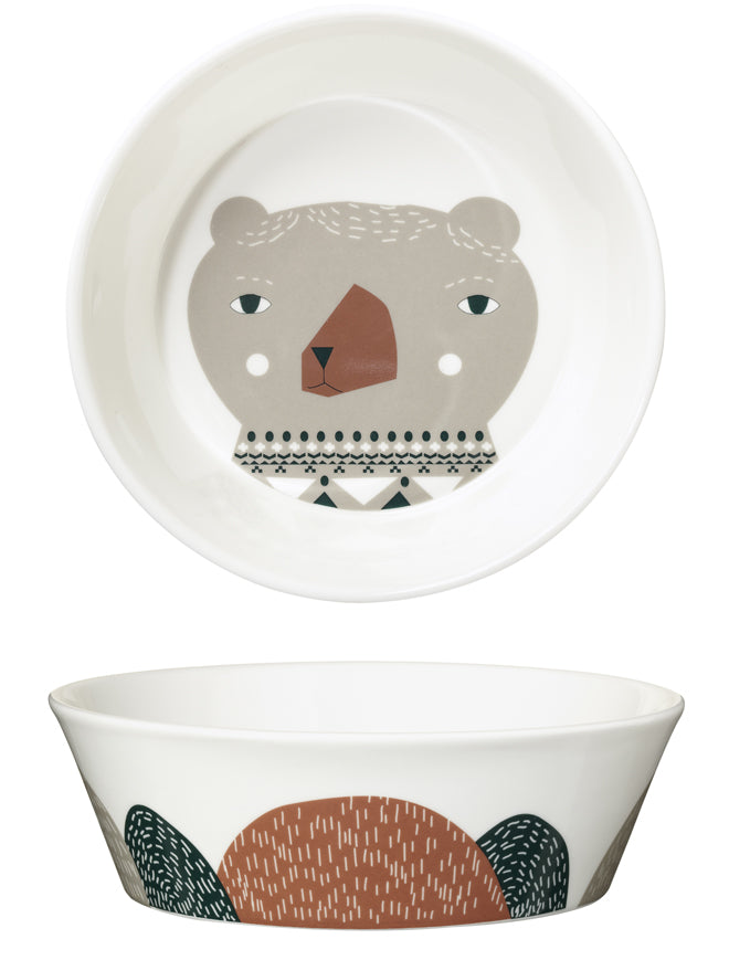 tableware, children's tableware, children's bowls, 3 bears bowls, Donna Wilson ceramics, Donna Wilson 3 bears, published by Bobby Rabbit