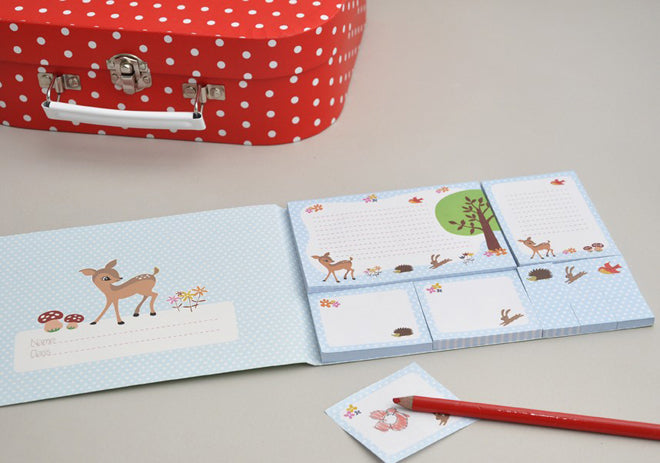 stationery, children's stationery, activity toys, stickers, memo pads, woodland animal memo pads, Easter gifts, Dotcomgiftshop, published by Bobby Rabbit