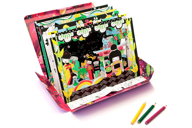 Children's 3d colouring set by Mon Petit Art, available from Dovetail Living, published by Bobby Rabbit