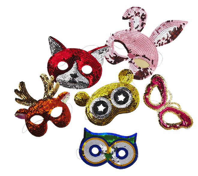 Sequin Party Masks from Bimbily, published by Bobby Rabbit