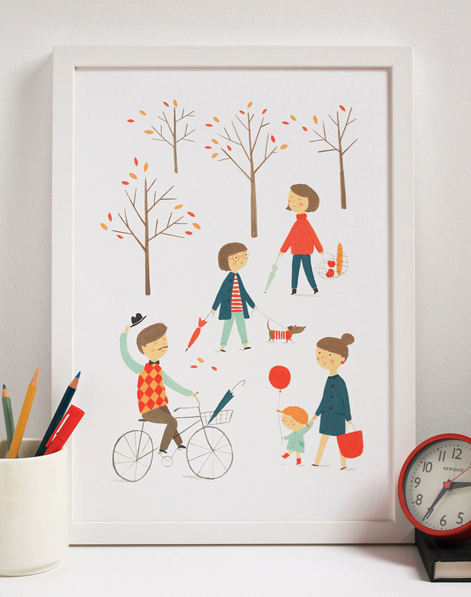 Children's wall art print 'In the Park' by Ekaterina Trukhan