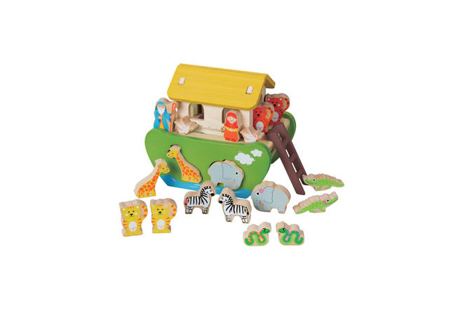 toys, wooden toys, shape sorters, shape-sorting Noah's Ark, Everearth, published by Bobby Rabbit