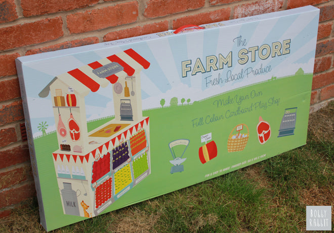 Cardboard farm shop from Dotcomgiftshop, published by Bobby Rabbit