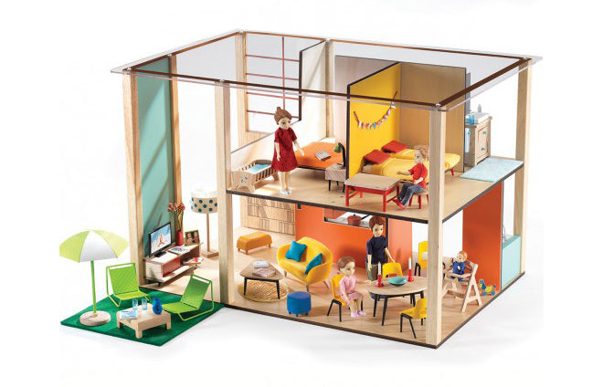 Djeco 'Cube House' wooden dolls house from French Blossom, published by Bobby Rabbit