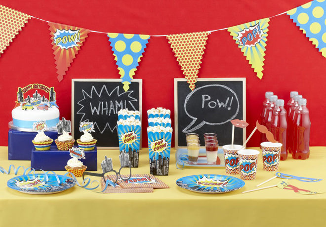 party, children's party, children's party themes, superhero party, Ginger Ray, published by Bobby Rabbit