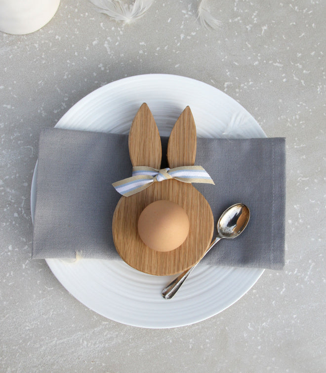 tableware, table accessories, children's egg cups, bunny egg cup, Easter gifts, Christening gifts, new baby gifts, Hop and Peck, published by Bobby Rabbit