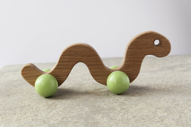 toys, wooden toys, wooden worm, Easter gifts, Christening gifts, new baby gifts, Hop and Peck, published by Bobby Rabbit