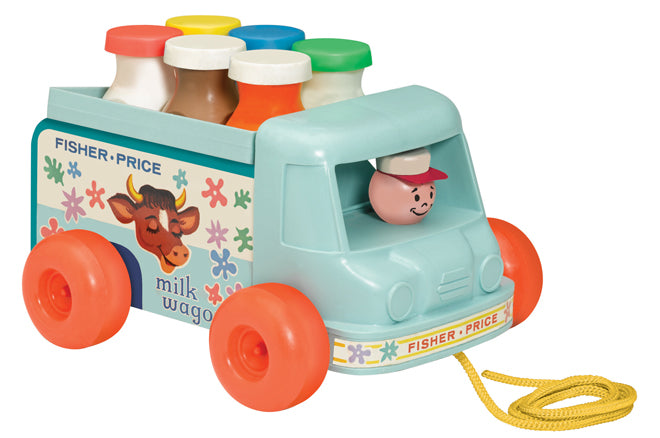 Fisher Price Milk Wagon toy from Hop Toy Shop, published by Bobby Rabbit
