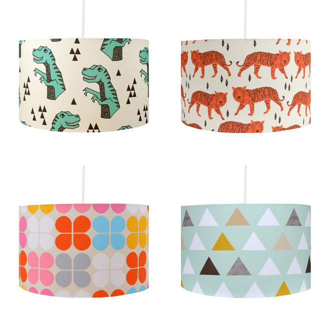 Children's Lampshades by Hunkydory Home, published by Bobby Rabbit