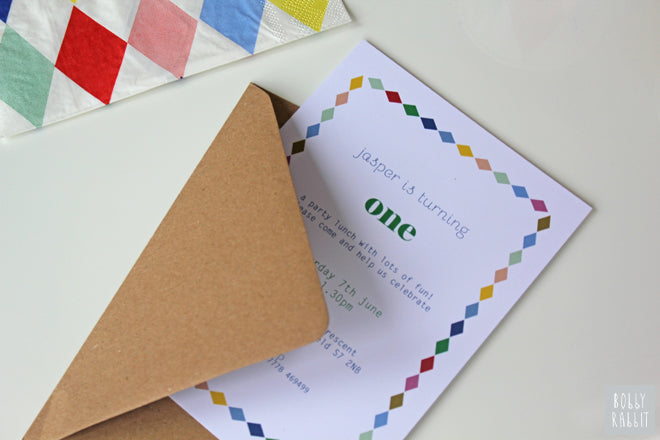 First Birthday Party, with bespoke stationery by Lola's Paperie, published by Bobby Rabbit