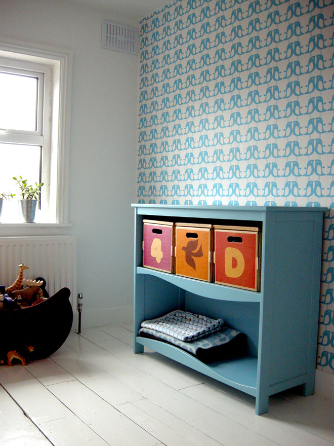 on the wall, wallpaper, children's wallpaper, penguin wallpaper, Isak wallpaper, Isak, published by Bobby Rabbit
