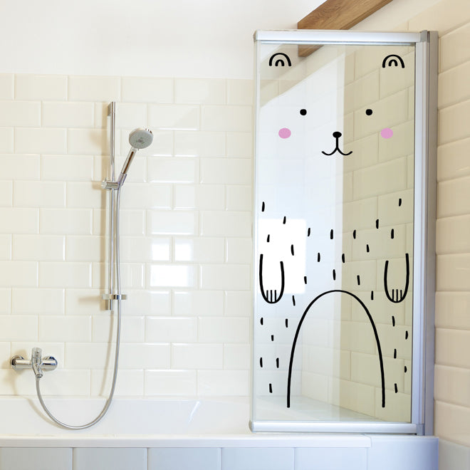 'Haru The Happy Bear' door friend wall decal from Ivy Cabin, published by Bobby Rabbit