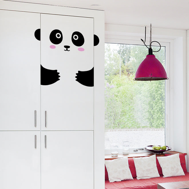 'Peppy The Pretty Panda' door friend decal from Ivy Cabin, published by Bobby Rabbit