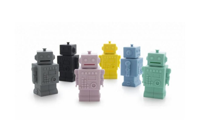 Robot Money Boxes by KG Design and available at Ivy Cabin, published by Bobby Rabbit