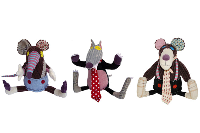 toys, soft toys, Les Deglingos soft toys, Ratos rat, Bigbos wolf, Gromos bear, gifts, christmas gifts, birthday presents, published by Bobby Rabbit