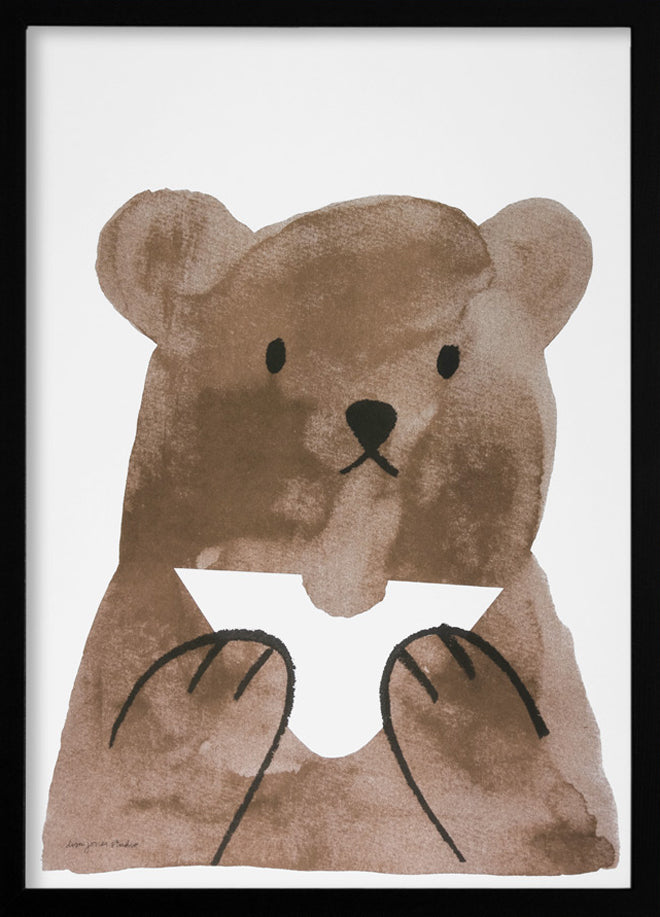 Lisa Jones 'Butty Bear' print, published by Bobby Rabbit
