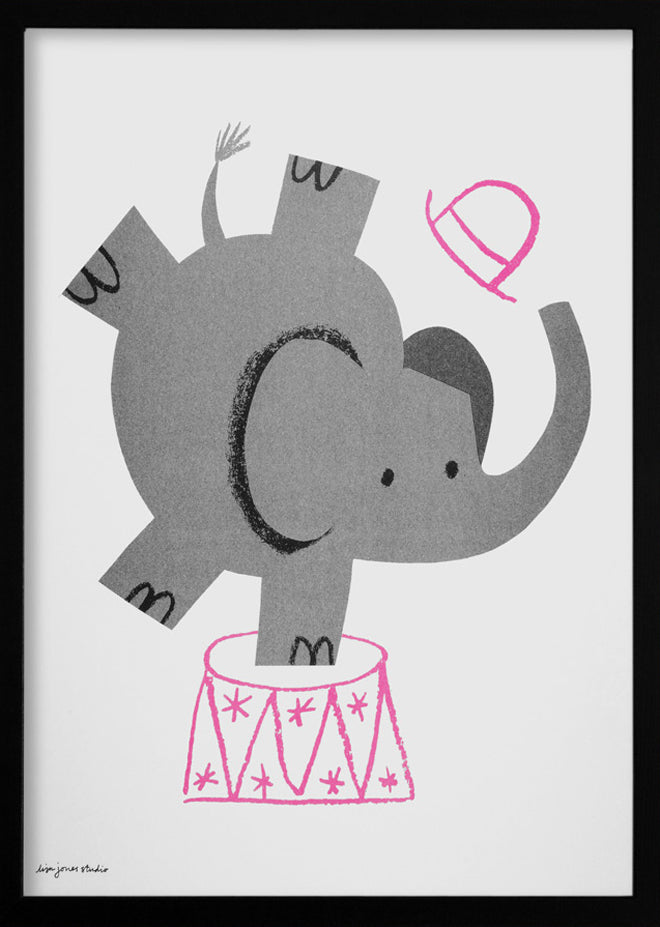 Lisa Jones 'Elephant' print, published by Bobby Rabbit