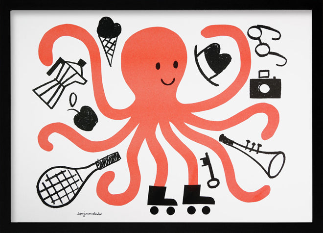 Lisa Jones 'Octopus' print, published by Bobby Rabbit