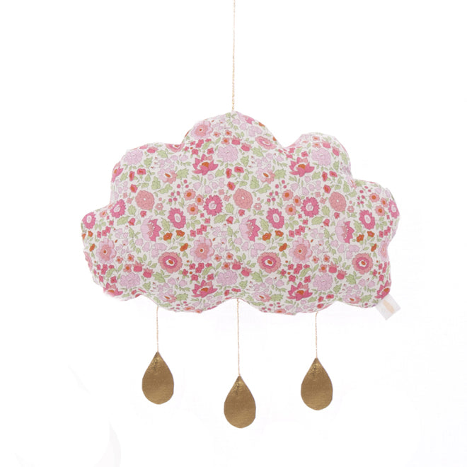 Children's cloud mobile made from liberty print fabric by Little Cloud, published by Bobby Rabbit