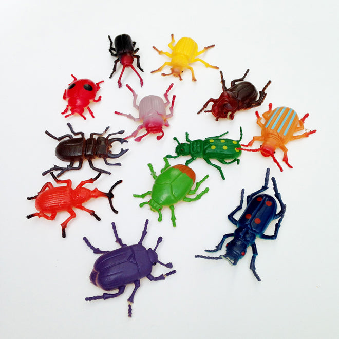 Set of 12 creepy crawler toys, published by Bobby Rabbit