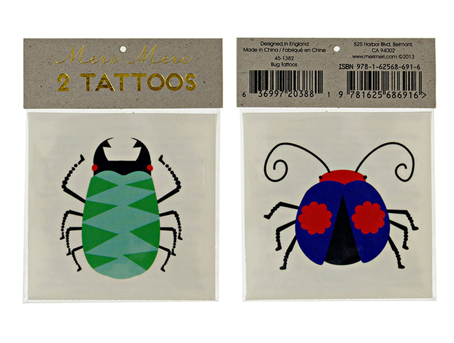 Children's bug tattoos, published by Bobby Rabbit