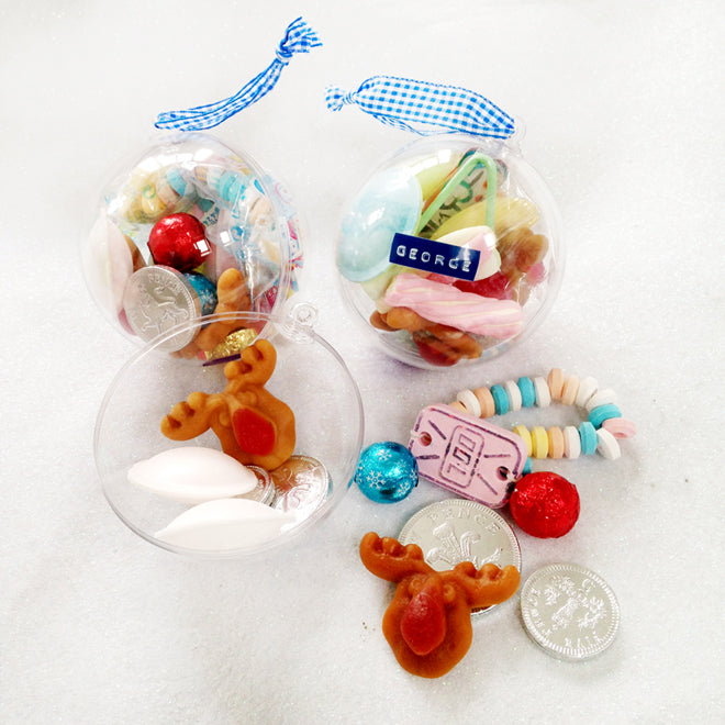 Personalised Christmas Baubles from Little Lulubel, published by Bobby Rabbit