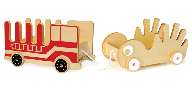P'kolino 'Book Buggee' - pull-along book shelf and toy storage, published by Bobby Rabbit