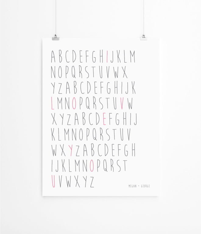 'Eva's Hand' children's personalised print by Lola's Paperie, published by Bobby Rabbit