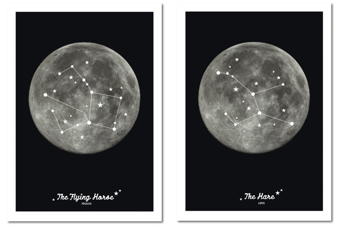 Animal Constellation Prints for the wall, designed and made by Lollipop Designs, published by Bobby Rabbit