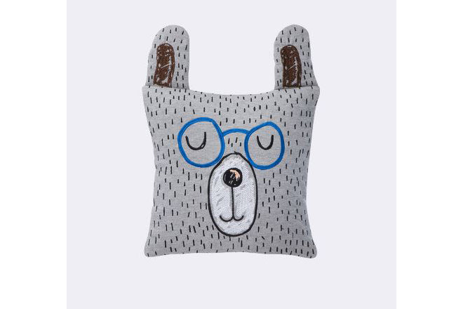 Ferm Living Little Mr Teddy cushion for kids, published by Bobby Rabbit