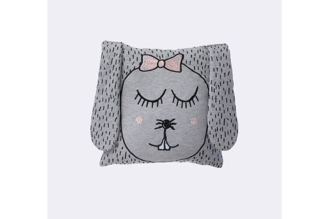 Ferm Living Little Ms Rabbit cushion for kids, published by Bobby Rabbit