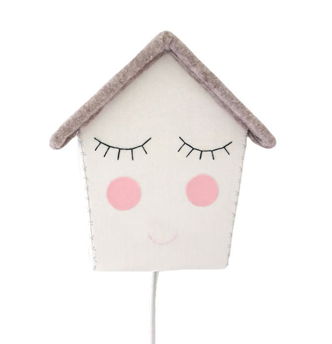 House of Clouds 'Happy House' children's wall light, published by Bobby Rabbit